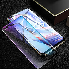 Ultra Clear Anti Blue Light Full Screen Protector Tempered Glass for Oppo Reno4 Z 5G Black