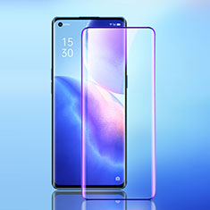 Ultra Clear Anti Blue Light Full Screen Protector Tempered Glass for Oppo Reno5 Pro 5G Black