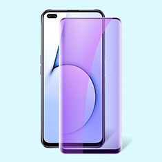 Ultra Clear Anti Blue Light Full Screen Protector Tempered Glass for Realme X50 5G Black
