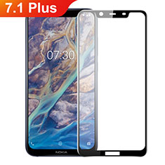 Ultra Clear Full Screen Protector Tempered Glass F02 for Nokia 7.1 Plus Black