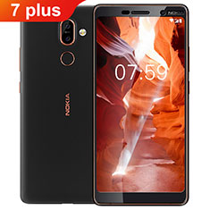 Ultra Clear Full Screen Protector Tempered Glass F02 for Nokia 7 Plus Black