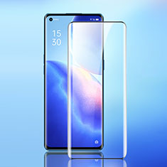 Ultra Clear Full Screen Protector Tempered Glass F02 for Oppo Reno5 Pro+ Plus 5G Black