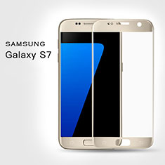 Ultra Clear Full Screen Protector Tempered Glass F02 for Samsung Galaxy S7 G930F G930FD Gold