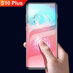 Ultra Clear Full Screen Protector Tempered Glass F05 for Samsung Galaxy S10 Plus Black