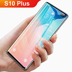 Ultra Clear Full Screen Protector Tempered Glass F06 for Samsung Galaxy S10 Plus Black