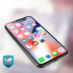 Ultra Clear Full Screen Protector Tempered Glass F09 for Apple iPhone X Black