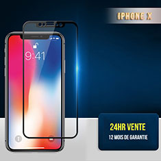 Ultra Clear Full Screen Protector Tempered Glass F30 for Apple iPhone X Black
