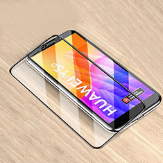 Ultra Clear Full Screen Protector Tempered Glass for Huawei Y5p Black