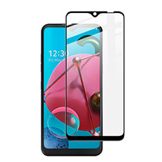 Ultra Clear Full Screen Protector Tempered Glass for LG K51 Black