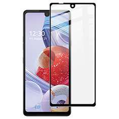 Ultra Clear Full Screen Protector Tempered Glass for LG Stylo 6 Black