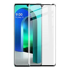 Ultra Clear Full Screen Protector Tempered Glass for LG Velvet 5G Black