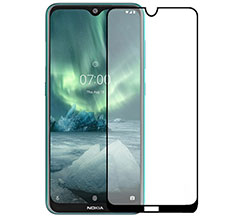 Ultra Clear Full Screen Protector Tempered Glass for Nokia 2.3 Black