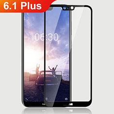 Ultra Clear Full Screen Protector Tempered Glass for Nokia 6.1 Plus Black