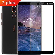 Ultra Clear Full Screen Protector Tempered Glass for Nokia 7 Plus Black