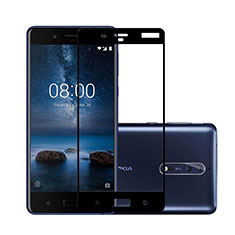 Ultra Clear Full Screen Protector Tempered Glass for Nokia 8 Black