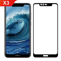 Ultra Clear Full Screen Protector Tempered Glass for Nokia X3 Black