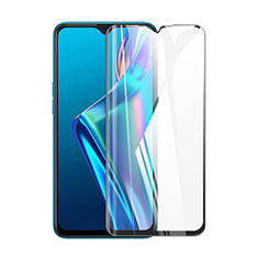 Ultra Clear Full Screen Protector Tempered Glass for Oppo A15 Black