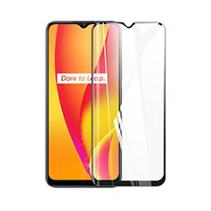 Ultra Clear Full Screen Protector Tempered Glass for Realme C15 Black