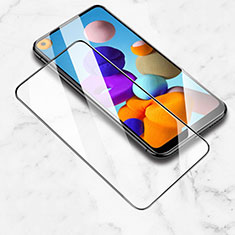 Ultra Clear Full Screen Protector Tempered Glass for Samsung Galaxy A21 Black