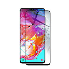 Ultra Clear Full Screen Protector Tempered Glass for Samsung Galaxy A70 Black