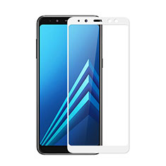 Ultra Clear Full Screen Protector Tempered Glass for Samsung Galaxy A8 (2018) A530F White