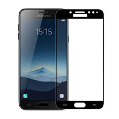 Ultra Clear Full Screen Protector Tempered Glass for Samsung Galaxy J7 Plus Black
