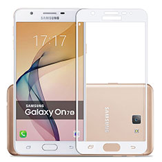 Ultra Clear Full Screen Protector Tempered Glass for Samsung Galaxy J7 Prime White