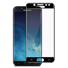 Ultra Clear Full Screen Protector Tempered Glass for Samsung Galaxy J7 Pro Black