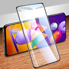 Ultra Clear Full Screen Protector Tempered Glass for Samsung Galaxy M31s Black