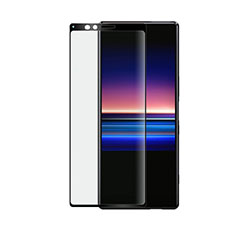 Ultra Clear Full Screen Protector Tempered Glass for Sony Xperia 1 Black