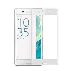 Ultra Clear Full Screen Protector Tempered Glass for Sony Xperia X White