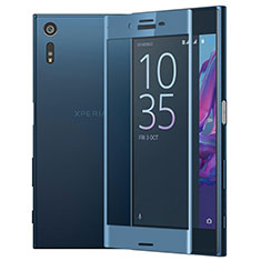 Ultra Clear Full Screen Protector Tempered Glass for Sony Xperia XZs Blue