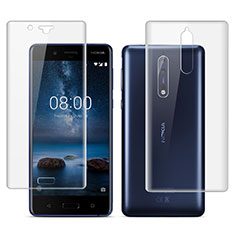 Ultra Clear Screen Protector Front and Back Film for Nokia 8 Clear