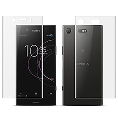 Ultra Clear Screen Protector Front and Back Film for Sony Xperia XZ1 Compact Clear