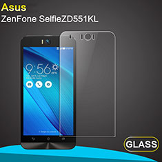Ultra Clear Tempered Glass Screen Protector Film for Asus Zenfone Selfie ZD551KL Clear