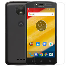 Ultra Clear Tempered Glass Screen Protector Film for Motorola Moto C Plus Clear