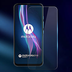 Ultra Clear Tempered Glass Screen Protector Film for Motorola Moto One Fusion Plus Clear