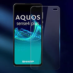 Ultra Clear Tempered Glass Screen Protector Film for Sharp AQUOS Sense4 Plus Clear