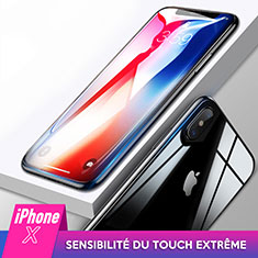 Ultra Clear Tempered Glass Screen Protector Front and Back for Apple iPhone X Clear