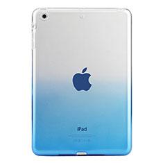 Ultra Slim Transparent Gel Gradient Soft Case for Apple iPad Mini 2 Blue