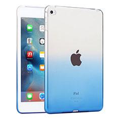 Ultra Slim Transparent Gel Gradient Soft Case for Apple iPad Mini 4 Blue