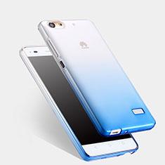 Ultra Slim Transparent Gel Gradient Soft Case for Huawei G Play Mini Blue
