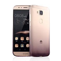 Ultra Slim Transparent Gel Gradient Soft Case for Huawei G7 Plus Brown
