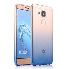 Ultra Slim Transparent Gel Gradient Soft Case for Huawei G9 Plus Blue