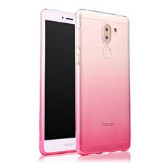 Ultra Slim Transparent Gel Gradient Soft Case for Huawei GR5 (2017) Pink