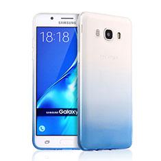 Ultra Slim Transparent Gel Gradient Soft Case for Samsung Galaxy J5 (2016) J510FN J5108 Blue