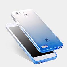 Ultra Slim Transparent Gel Gradient Soft Case Q01 for Huawei G8 Mini Blue