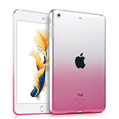 Ultra Slim Transparent Gradient Soft Case for Apple iPad Air Pink