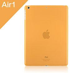 Ultra Slim Transparent Plastic Cover for Apple iPad Air Orange