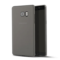 Ultra Slim Transparent Plastic Cover for Samsung Galaxy Note 7 Black